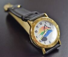 Wrist Watch With Music Notes And Leather Band (5010X)