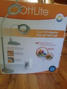 Ottlite 2-in-1 Led Magnifier Floor Amd Table Light