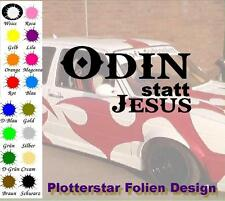 Odin statt Jesus JDM Sticker Aufkleber Odin Thor Valhalla Shocker