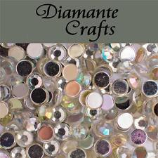 1000 5mm Clear Iridescent AB Diamante Loose Flat Back Rhinestone Nail Body Art