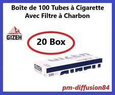2000 TUBES Cigarettes avec Filtre. GIZEH CARBON FILTER  (20 Boîtes de 100 Tubes)
