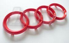 Gloss Rosso AUDI badge logo sul davanti quattro anelli A3 A4 A6 A8 S3 S4 RS3 RS4 S line