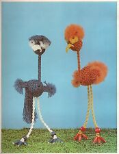 String Bean Puppet Funky Patterns Macrame is for the Birds Craft Book #PD1054