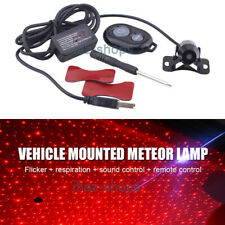 USB Gadget LED Car Interior Ceiling Star Light Decoration Lazer Projector Red