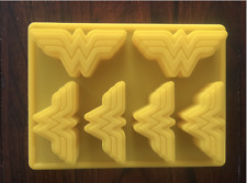 WONDER WOMAN LOGO SILICONE CANDY CHOCOLATE MOLD CUPCAKE PAN BIRTHDAY FAVOR