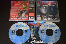 Drácula 2: el último santuario PlayStation PS1 buenas condiciones Manual Reino Unido One PAL