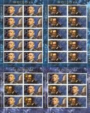 CEPT 2009 ASTRONOMIE - MOLDAWIEN 650-51 Kleinbogen + 2 Heftchenblätter **