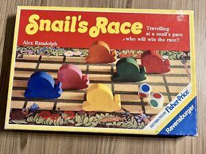 Ravensburger Educational Snail's Race Board Game Age 3-7 Complete 1987 Vintage