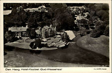 Den Haag Holland alte Postkarte ~1940 Hotel Kasteel Oud Wassenaar Luftaufnahme