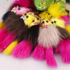 Hot  Fox Fur Tail Keychain Tassel Bag Tag Charm Handbag Pendant Accessory NT