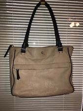 kate spade Pebbled leather bag Ivory Navy Handles