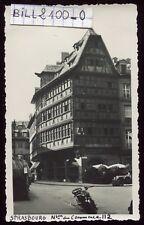 Strasbourg . photo ancienne . moto ancienne . 1933