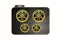 Set 4 Adesivi Diapason GOLD & BLACK 3D resinato 50 mm e 30 mm Tmax Xmax Racing