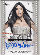 2011 POP CENTURY PREVIEW AUTO: KOURTNEY KARDASHIAN #17/25 AUTOGRAPH SISTER KIM
