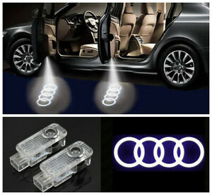 2x LED Door Courtesy Light Ghost Shadow Laser Projector For Audi A4-A6 A8 Q3/5/7