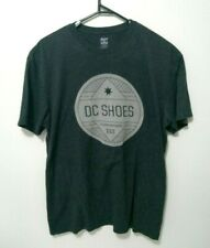 DC Shoes Mens T-Shirt Size XL Dark Grey Logo Tee Crew Neck Short Sleeve