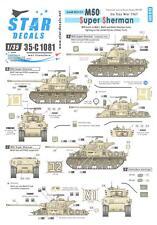 Star Decals 1/35 SIX DAY WAR 1967 ISRAELI M50 SUPER SHERMAN TANK