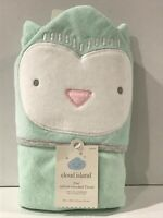 Baby Infant Owl Hooded Towel - Cloud Island™ Mint Green One Size 30x30in Cotton