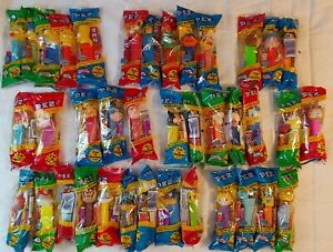 Lot of 38 Pez Dispensers- Looney Tunes/Simpsons/Winnie the Pooh/Sesame Street