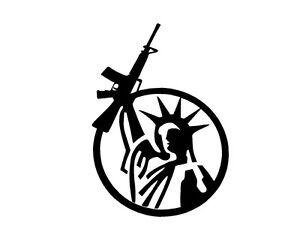 Statue of Liberty Gun Rights 1 Vinyl Decal Sticker Window Glass Rifle AR15