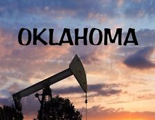 METAL MAGNET Oil Rig Oil Gas Industry Travel Oklahoma USA MAGNET