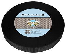 Country Brook Design® 1 Inch Black Heavy Nylon Strap Webbing, 10 Yards