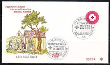 Germany 1963 FDC cover German Red Cross Mi 400 Sc 865 Medicine.Medical.Doctors