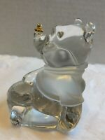 LENOX Fine Crystal Winnie The Pooh Disney With Gold Bee Golden Clear Frosted
