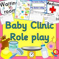 BABY CLINIC role play CD resource pack-EYFS / KS1 - ourselves, growing, babies
