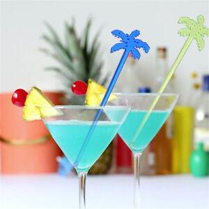 50x Coconut Tree Cocktail Swizzle Sticks Drink Stirrer Coffee Muddler PuddlYRSN
