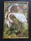 Alice Scott 1925-2005 SC / FL Artist Mixed Media Watercolor Oil Painting Egrets