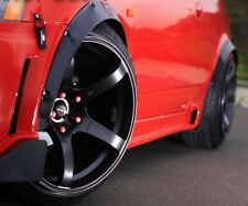 felgen tuning 2x Radlauf Kotflügel Verbreiterung SCHWARZ 74cm für Honda Lagreat