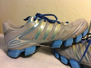 Adidas Women's Hypermotion Bounce Gray Blue Walking Running Shoes Size 7