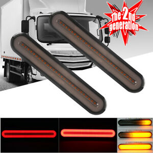 2X LED Trailer Truck Stop Brake Rear Tail Light Reverse Sequential Turn Signals