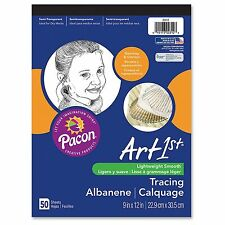 """Pacon Art1st Parchment Tracing Paper, 9 X 12, White, 50 Sheets"""