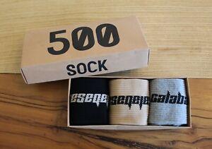 Yeezy Calabasas Socks Kanye West (3 Pack) Core/Glacier/Sand