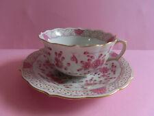 Meissen indisch purpur reich Teetasse mit UT indische Malerei m. Goldr.  1. Wahl
