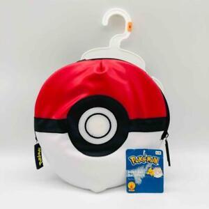 "New w/ Tags Pokemon 9.5"" POKE BALL Pet Backpack S/M Zipper Closures Rubie's"