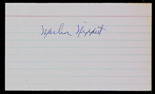 Merlin Nippert signed autograph auto 3x5 index card Baseball Player H4719