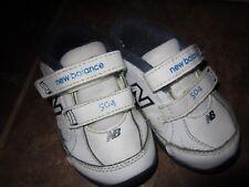 White New Balance Shoes Sz 5C Toddler Baby Unisex  Velcro ~~EUC~~Ships FREE