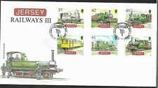 GB Jersey 2009 FDC  Railways III fine used stamps on cover