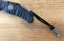 Knife & Zipper Lanyard...  .45 Depleted Inert Shell Casing with 550 Para Cord