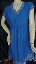 Size 20 tunic dress with silver embroidery.