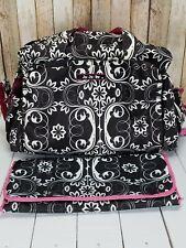 Ju Ju Be Be Prepared with changing pad large diaper bag Shadow Waltz print pink