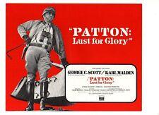 ORIGINAL CINEMA PRESS SHEET - PATTON LUST FOR GLORY - GEORGE C SCOTT