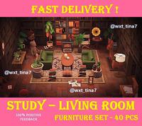 Retro Study Living Room Furniture Set 40 Pcs FASTEST!!!