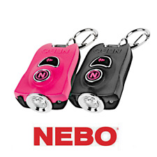 Nebo MyPal Rechargeable 400 Lumen Keychain Flashlight & 115db Personal Alarm
