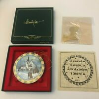 P. Buckley Moss Christmas Carol Ornament 1996 Christmas in Box Authenticity Cert