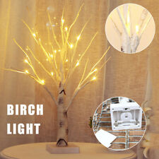 LED Light Up Birch Twig Tree Decoration Indoor Home Christmas Decor Gift White.