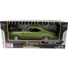 MOTORMAX 73315 1969 69 DODGE CORONET SUPER BEE 1/24 DIECAST MODEL CAR GREEN